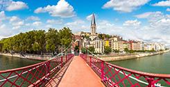 Pistes cyclables a Lyon